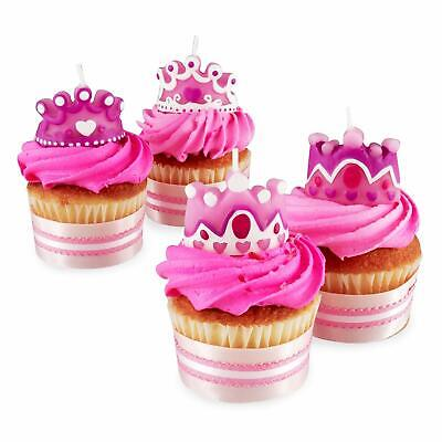 Wilton 4 Set Princess Queen Party Candles Cupcakes Cake Birthday Girl Decorating