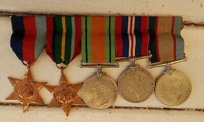 Australian Ww2 Set Of Five Military Medals