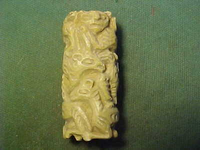Western Asiatic cylinder seal  of steatite (Human Animals and bird) 1700s AD