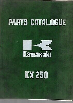 Parts List KAWASAKI kx250  250KX 1973   99997-629