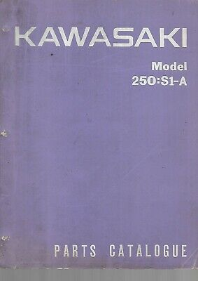 Parts List  catalogue pieces KAWASAKI 250-S1 A 1972  99997-602