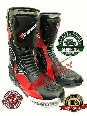 Motorbike Racing Shoes Elegant Design Riding Leather Shoes All Size Available