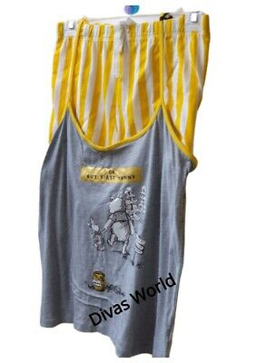 Disney Winnie The Pooh Cami Vest Short Pj Set Pyjamas Girls Nightwear Primark