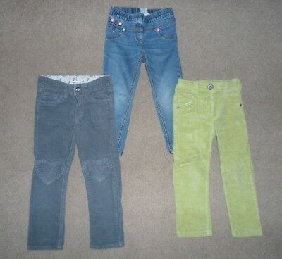 Next Girls Stylish Cord Jeans & Jeggings Bundle Age 2-3 Years