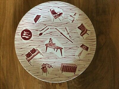 """Ridgway Homemaker Very Rare Red 10"""" Plate in good condition"""