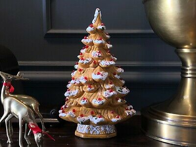 Gingerbread Style Ceramic Christmas Tree