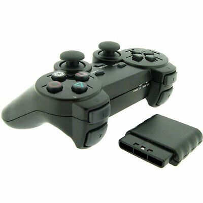 New Wireless Black Replacement Game Controller Pad for Sony Playstation 2 PS2
