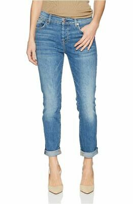 NWT 7 For All Mankind Women's Josefina Feminine Boyfriend Denim Jeans 29 x 26