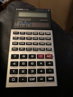 CASIO FX-85V SUPER-FX CALCULATOR VINTAGE RETRO 1980s WORKING