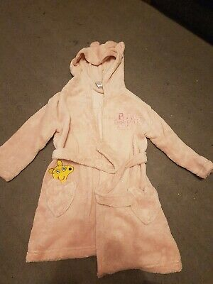Girls Pink Peppa Pig Dressing Gown Size 3-4 Years
