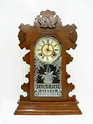 "A Large 19th Century Ansonia ""Buffalo"" 8 Day Mantle Clock."