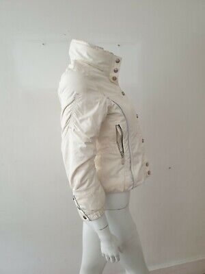 Embroidered Poivre Blanc White Winter Ski Jacket, FR10