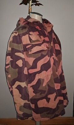 Surplus Ufo Usa Faded Camo Field Jacket Hooded Parka Military Camouflage Coat S