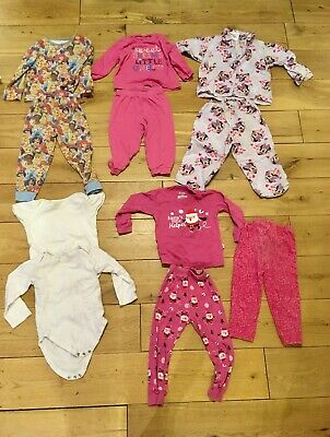 Girls 18-24 Months Pyjamas Bundle Christmas Santa Disney Princess Minnie Mouse