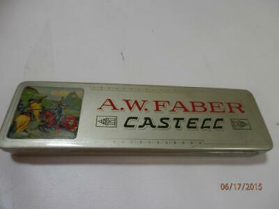 Vintage Tin Faber Castel w 12 new Wallace Blue Pencils