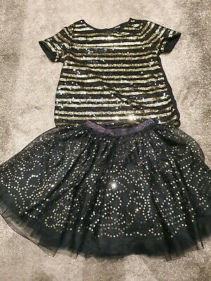 Girls Party Outfit, Skirt And Top Age 9