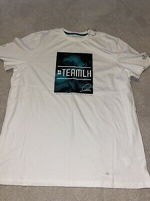 Mens Mercedes AMG Petronas F1 Team Lewis Hamilton T Shirt Men's Extra Large