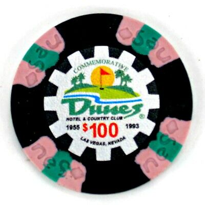 Dunes Hotel & Country Club Casino Las Vegas $100 Commemorative Chip_9 Grams Clay