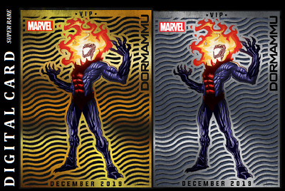 Topps Marvel Collect Card Trader December Vip Dormammu Gold & Silver