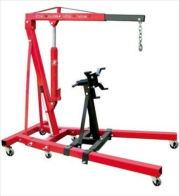 2T Hydraulic Folding Engine Crane Stand Lift Hoist Bonus Engine Load Leveller