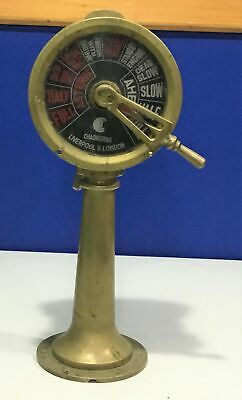 "Chadburns Liverpool & London Brass 18"" Double Face Ships Telegraph 14 pounds WOW"