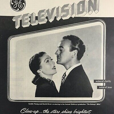 GE General Electric TV Television Magazine Print Ad 1947 Vintage Household