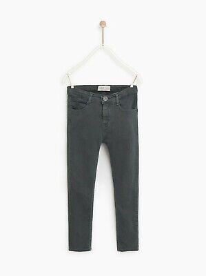 NWT Zara Dark grey SERGED SKINNY SLIM JEANS green size 10 boys