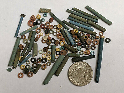 More than a Hundred 2500 Year old Ancient Egyptian Faience Mummy Beads (#L981)