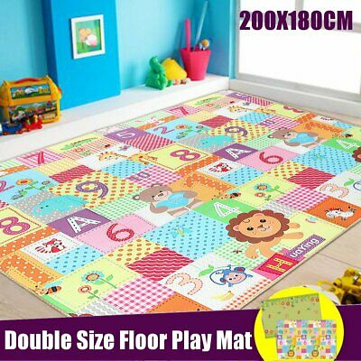 200x180x1cm Baby Crawling Carpet Thick Play Cover Mat Game Rug Waterproof Floor