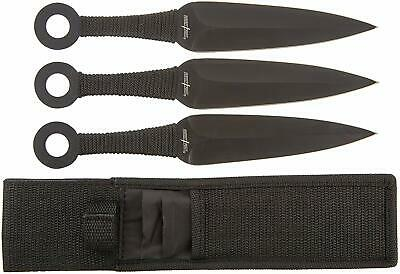 Perfect Point Throwing Knife Set with Three Knives, Black Throwers PP-869-3
