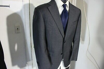 Suitsupply Super 110'S Size 38 Short Gray 2 Button Sportcoat W/Dual Vents