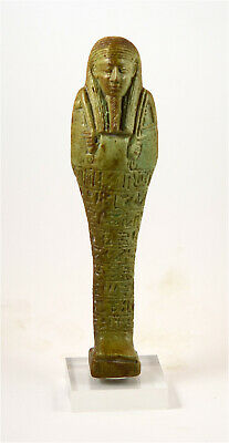 Egypt TIP 30th Dynasty larg shabti for Hormaakherou-from the Mustaki collection