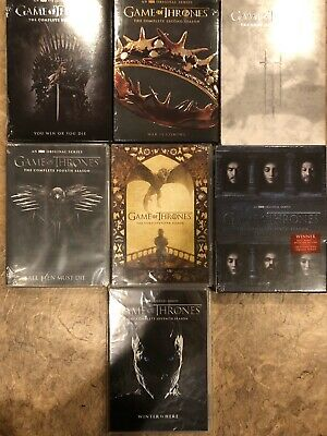 BRAND NEW! Game of Thrones Complete Seasons 1,2,3,4,5,6,7 DVD's 1-7 DVD LOT HBO