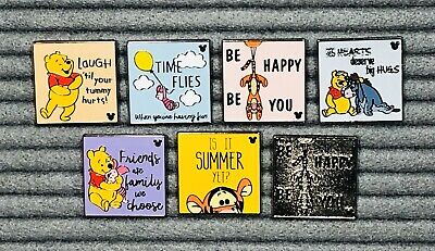 Disney Pin 2019 Hidden Mickey Series Wave A Winnie the Pooh Quotes Set DLR