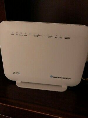 NetComm NF18ACV AC1600 Wi-Fi xDSL Router with Voice, White
