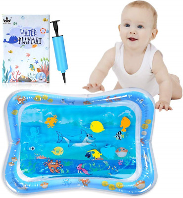 AINOLWAY Baby Water Mat Inflatable Sensory Toy Tummy Time Water Play Mat for