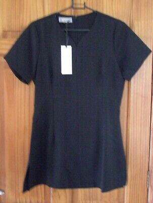 New - Salon Wear - Black Hair/Beauty Salon Or College Tunic Top Size 8 Bnwt
