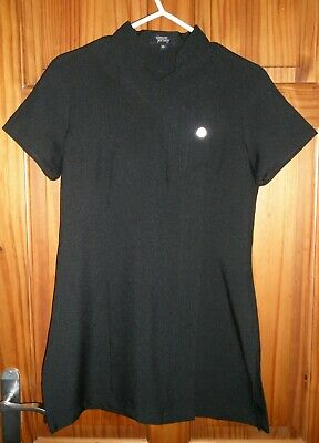 New - Simon Jersey Hair/Beauty Salon Or College Black Tunic Top Size 10