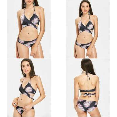 Feather Halter Wrap Bikini Set