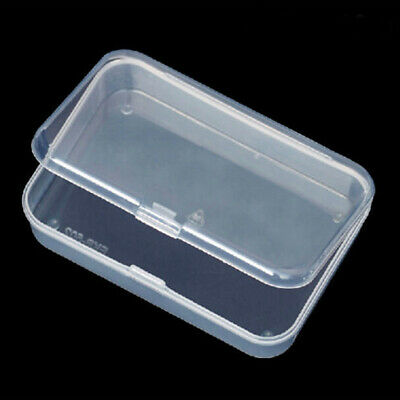 Plastic Transparent With Lid Small Storages Boxes Collection Container UK