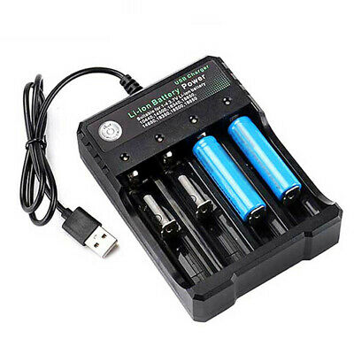 18650 Rechargeable Li-Ion Battery Charger USB Smart Charging Charger 4 Slots