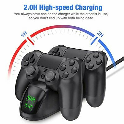 PS4 Dual Ladestation Wireless Game Controller Ladegerät LED-Anzeige