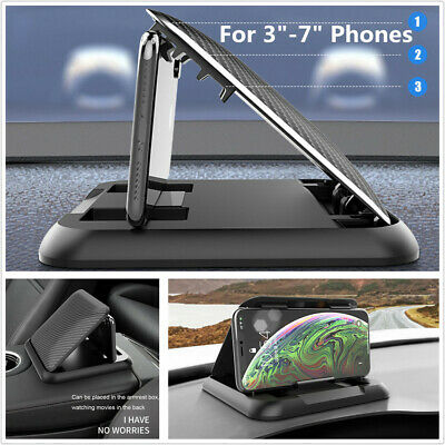 Car Dashboard Phone Holder Cradle Mount HUD For iPhone 11 XR XS MAX Samsung GPS