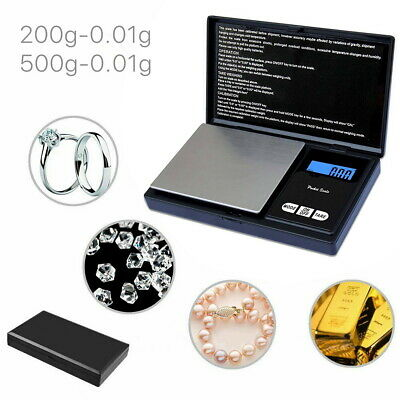 200g/500g 0.01 Digital Pocket Scales Gold Jewellery Precision Electronic mg Lab