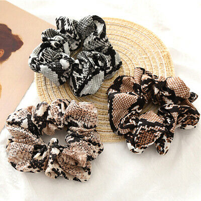 Snake Print Hair Scrunchies Elastic Hair Band Ponytail Hair Rubber Hair Rope H0