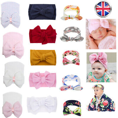 Baby Rabbit Headband Cotton Elastic Bowknot Hair Band Bow-knot Bow Newborn Girls
