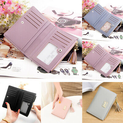 UK Women's Short Small Wallet Lady Leather Folding Coin Card Holder Money Purse