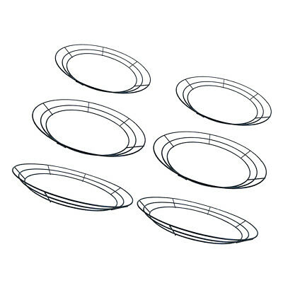 6x Iron Wire Wreath Frame Form Hanger For New Year Christmas Decor 12''-16''