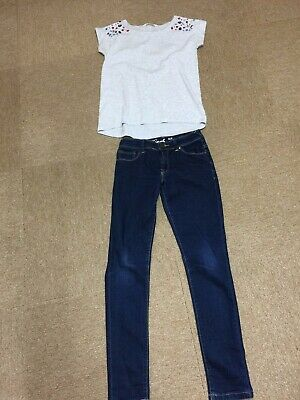 Girls Jeans And Top 10-12 Years