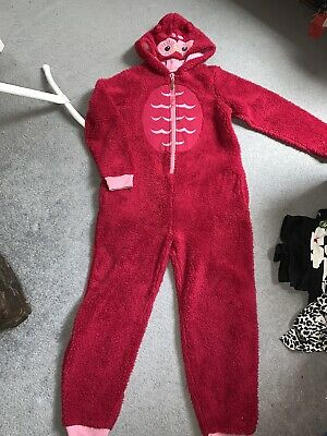 Girls Fatface Owl All In One  Fluffy Pjs  12-13yrs